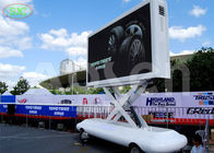 lR1G1B p4.81 Outdoor led mobile digital advertising sign trailer,truck mounted led display
