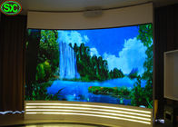 Indoor Curtain Led Display , Curve Shape P3 Led Video Wall led flex curtain