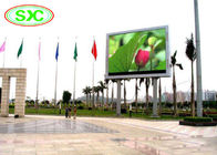 IP65 Rgb Smd / Dip Video Led Column Display,10mm Led Screen For Outdoor Advertising