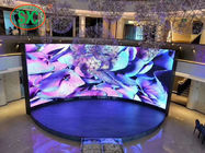 High Definition Indoor Curved P3.91 Full Color LED Display With Adjustable Angle Cabinet