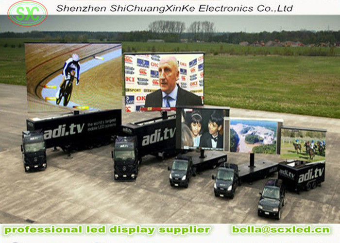 Outdoor p6 smd Full Color Commercial Trailer mobile led truck advertising