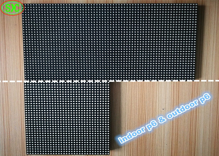 Indoor / Outdoor P6 Full Color Led Display Module With PCB Board Lightweight smd led display module