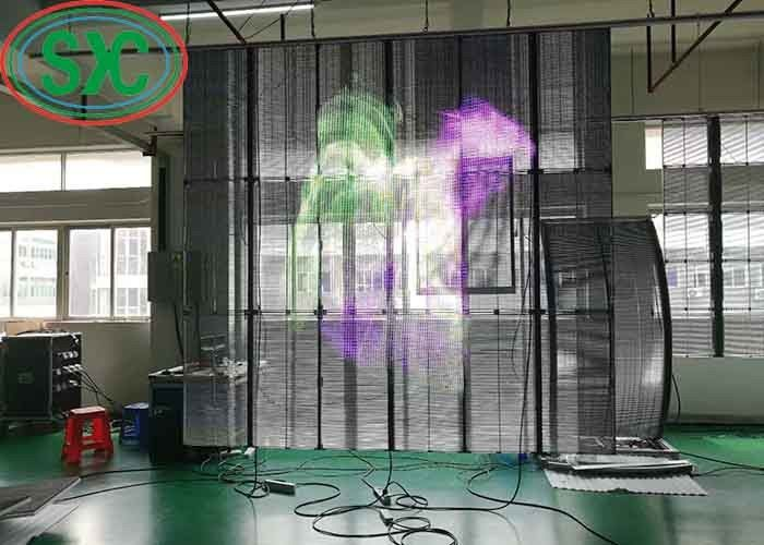 High Stability Indoor Full Color Transparent LED Screen SMD1921 500mm x1000mm