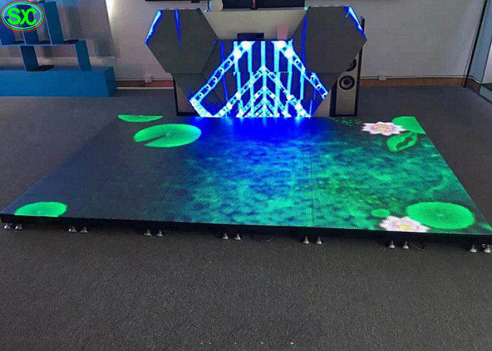 P4.81 disco LED dance floor display rental , led stage floor anti-collision