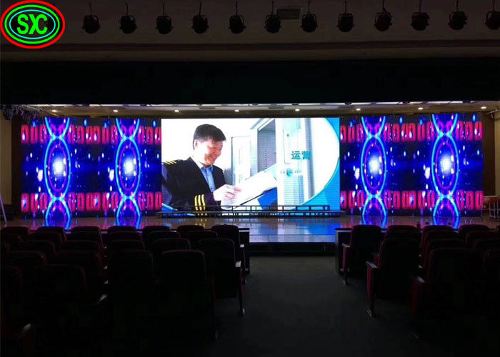 Full Color Advertising LED Screens P2.5 P3 P4 Super Slim 576*576mm Cabinet