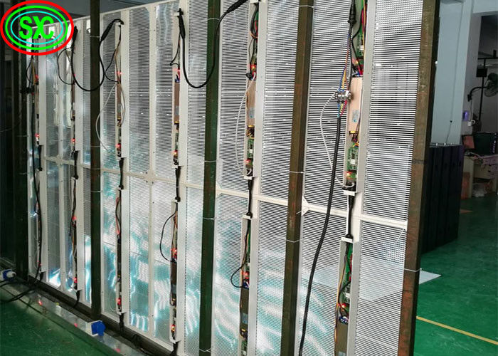 Indoor P3.91 Transparent LED Screen Glass Window Screen Aluminum Cabinet Material
