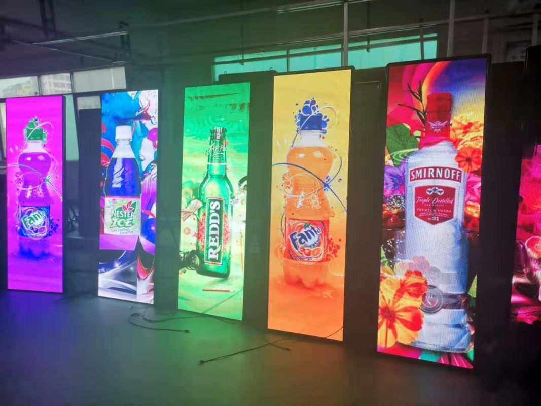 P3 Portable LED Advertising Board , Mirror Poster Panel Display RGB SMD 2121