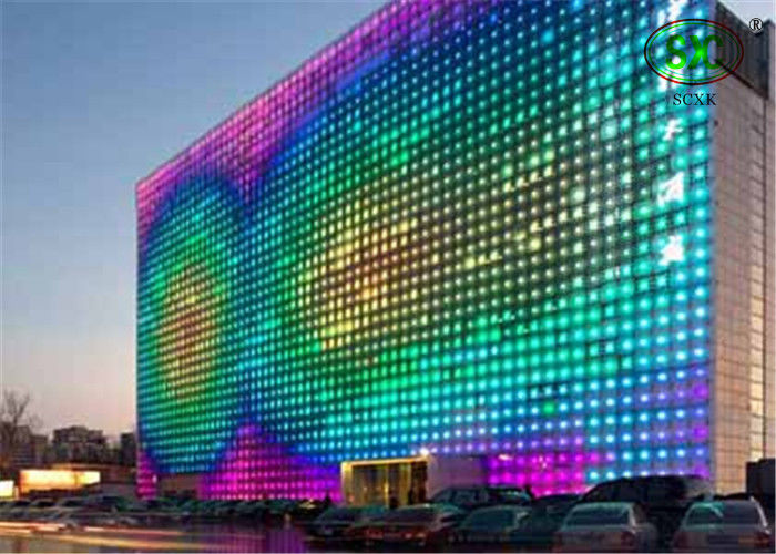 Brightness 6000cd/m2 P37.5mm multi color RGB LED curtain SMD5050 IP68